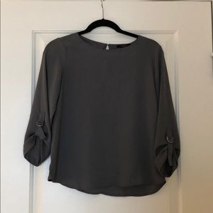 Gray forever 21 blouse. 3/4 sleeve. Size Small.